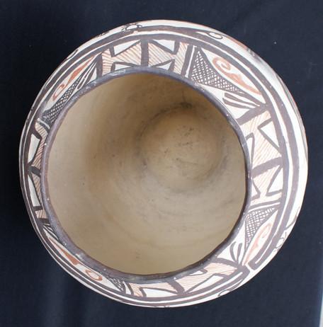 Zuni Pueblo Polychrome Large Decorated Pottery Artist Unknown