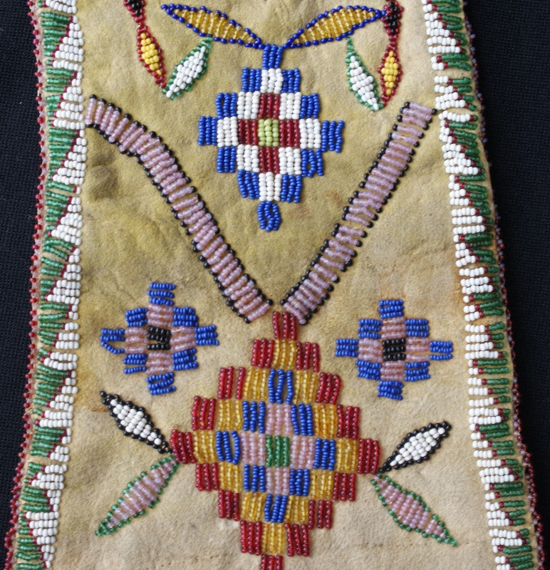 1900's Apache Beaded & Fringed Bag Artist Unknown