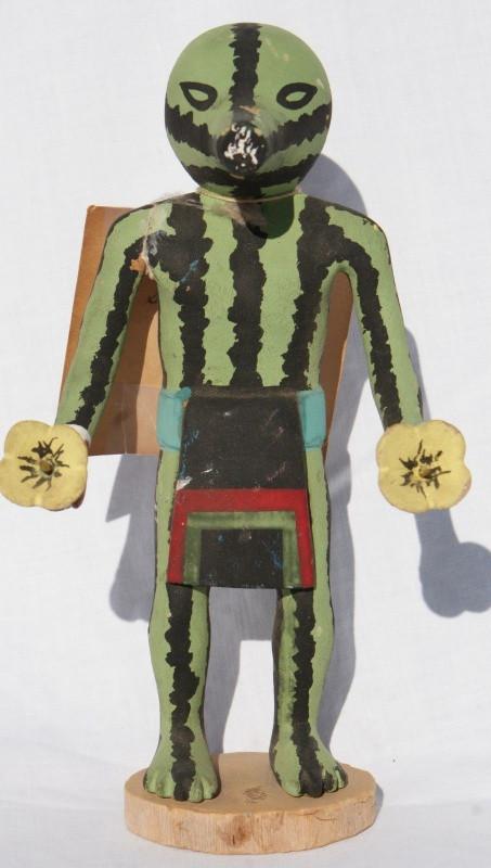 """Bill Sewemaenewa Hopi Patung (Squash) 8 1/4"""" Katsina"""