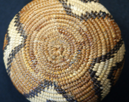 1910 Cahuilla Mission Basket Diamond Back Design