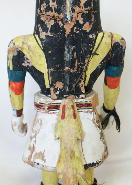 "Vintage 13.5"" Tall Mid 20th Century Hopi Indian Longhaired Katsina"