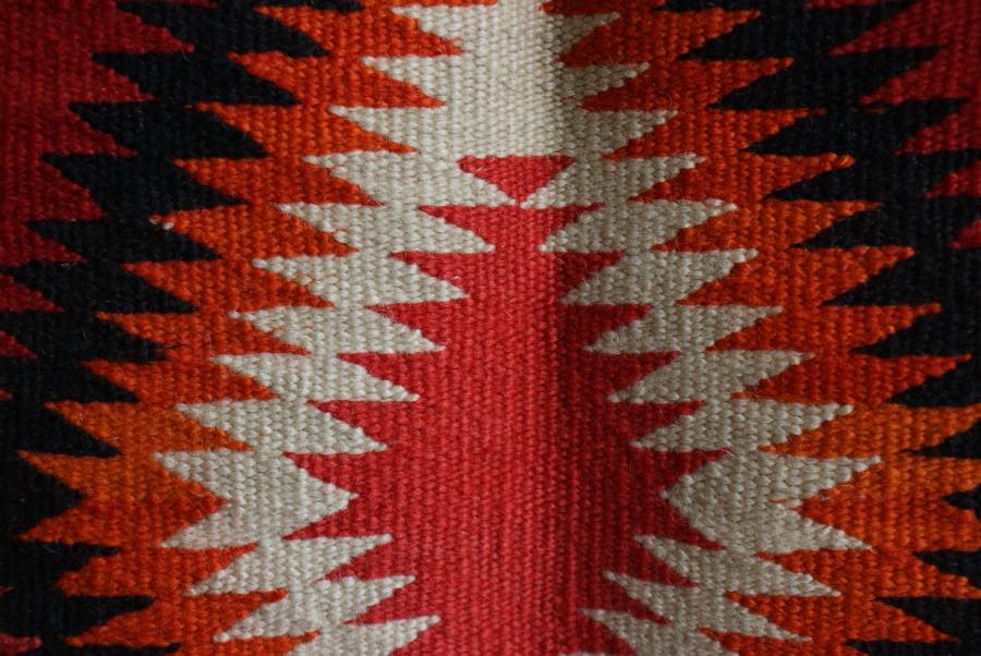 Navajo Sunday Saddle Blanket Artist Unknown