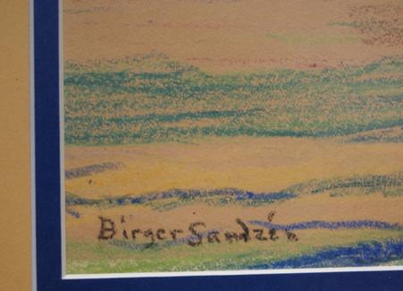 Sven Birger SandzeSven Birger Sandzen 1871-1954 Crayon on Paper