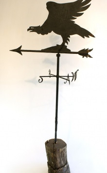Vintage Hand Crafted Iron Eagle Weathervane