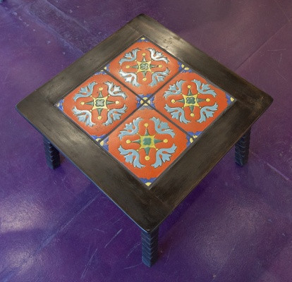 Monterey Old Wood Tile Top Table with Old Wood Finish