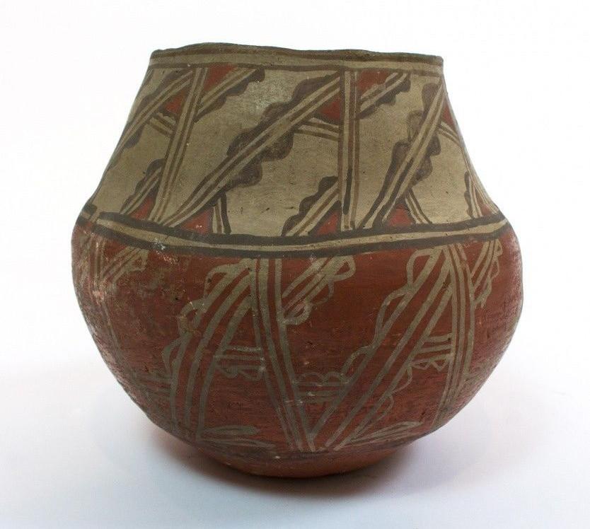 Zuni Indian Pueblo Pottery Decorated Jar 1890's