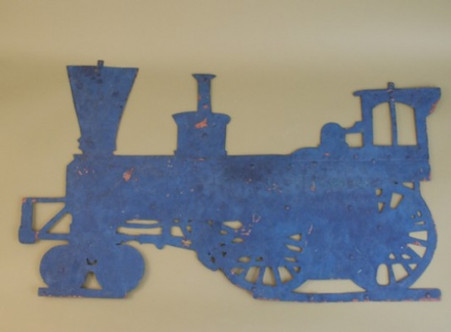 Steam Engine Tractor Trade Sign Cut-Out Late 1800's