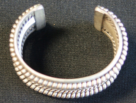 Tahe Signed Navajo Sterling Silver Cuff
