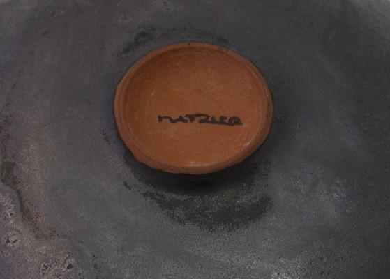 Natzler Gunmetal Crystalline Glaze Bowl Natzer