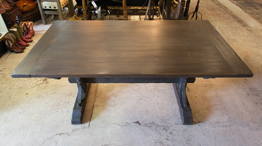 Monterey Classic Old Wood Trestle Table