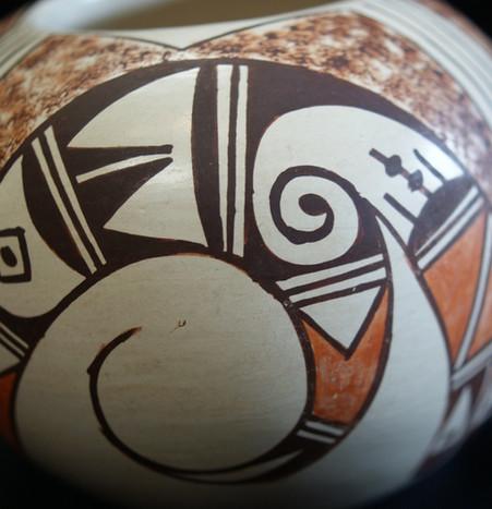 William David Small Polychrome Hopi Pueblo Pottery Jar Dated 1994 William David