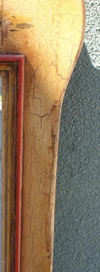 Monterey Straw Ivory Crackle Mirror