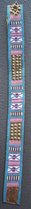 1880's Beaded Crow Indian Belt