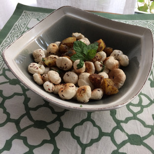 Day 4-Snacking on Aloo Makhana -potatoes with roasted foxnuts