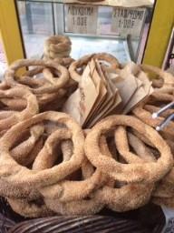 Sesame bread rings or koulouris