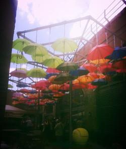 an umbrella sky!