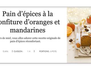 Pain d'épices à la confiture d'oranges et de mandarines Bonne Maman