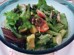 My aunts avacado salad for lunch
