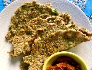 Can it be healthier! Green Mung Sprouts Bajra (Pearl Millet ) and Easy Jowar(Sorghum) Savoury Pancak