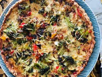 Pamper yourself on Holiday lunches with Almond Crust Vegetable Quiche