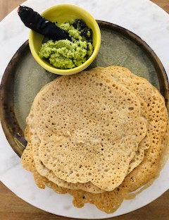 Aswini's Millet and Coconut  Neer Dosa