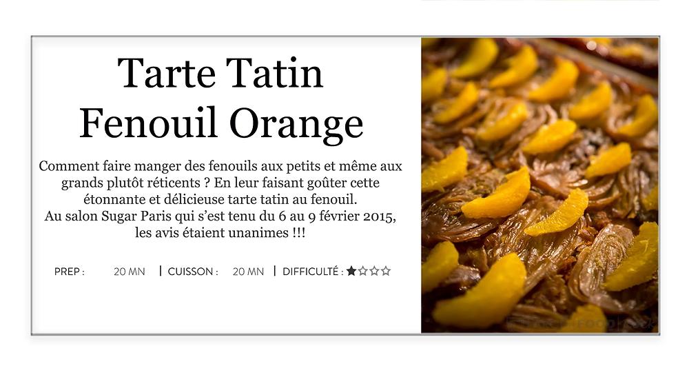 Tarte Tatin Fenouil Orange - Sugar Paris 2015
