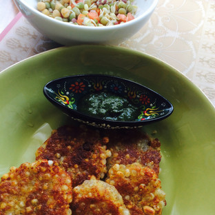 Sabudana Vadas - Sago and potato cutlets