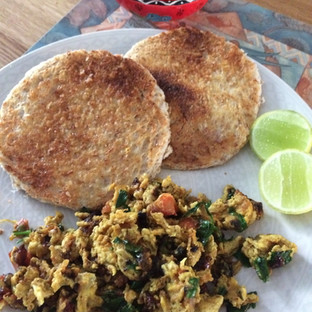 Wake up with delicious Khageena .. savory scrambled eggs