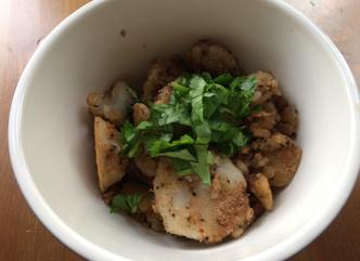 Arbi Fry for Navrataras- fried Colocasia for those fasting days