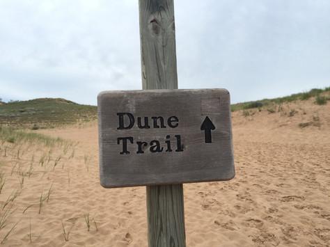 Hiking Sleeping Bear Dunes Climb