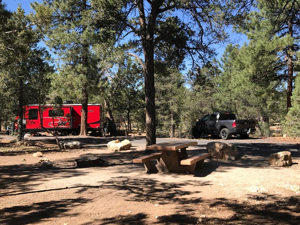 Our Minnie Winnie at Mather Campground campsite