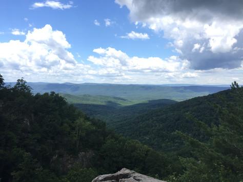 Hiking AT to Overall Run Falls Trail Shenandoah National Park