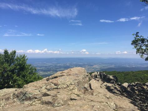 Hiking Blackrock Viewpoint Shenandoah National Park