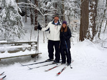 Skiing Chapin Forest Reservation