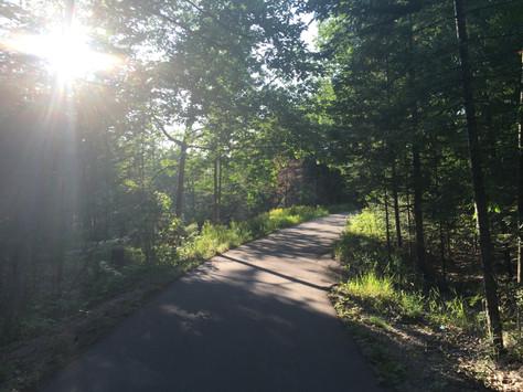 Biking Sleeping Bear Heritage Trail