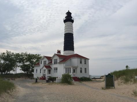 Biking to Big Sable Lighthouse