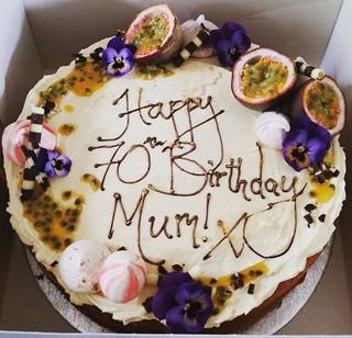 A #beautiful#lemonpassionfruit#10_#celebrationcake#cake#cakestagram#instafood#foodporn#bakery#baker#homemade#violas#meringue#kisses#vanilla#