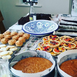 Today at HQ #quiches#gingerbreadloaves#shortbread#lavender&lemon#carrot#cake#bakewell#cherry#almond#meringue#trees#christmascake#baker#baker