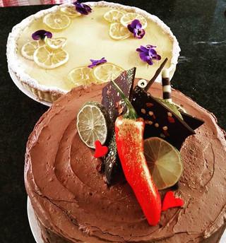 Today's order! 10_ lemon tart and a lime & chilli chocolate cake.jpg