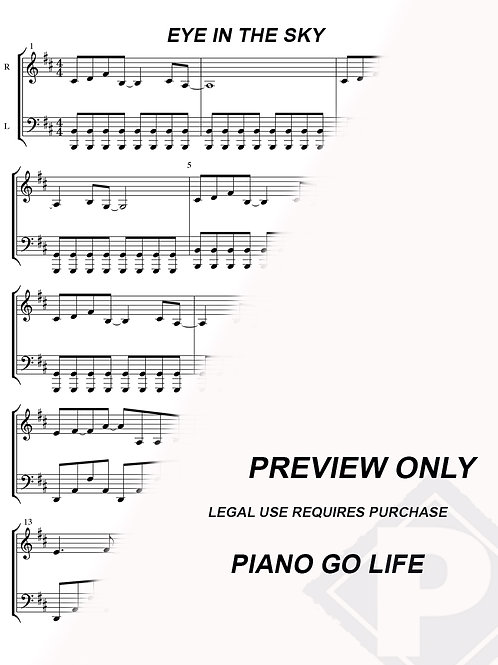 The Alan Parsons Project- Eye in the Sky Sheet Music