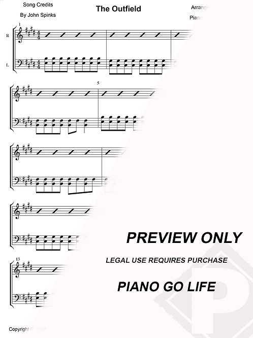 The Outfield - Your Love Sheet Music