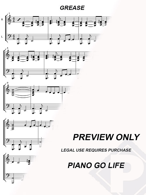 Grease - You're The One That I Want Sheet Music