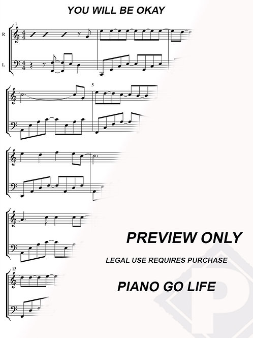 Helluva Boss Song - You will be Okay Sheet Music