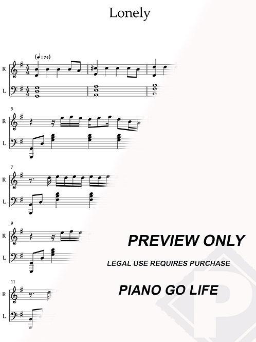 Justin Bieber & benny blanco - Lonely Sheet Music