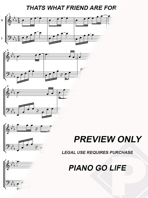 Dionne Warwick - Thats What Friend Are For Sheet Music