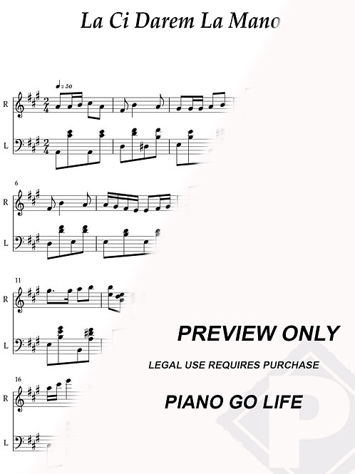 Mozart - Don Giovanni - Là ci darem la mano Sheet Music