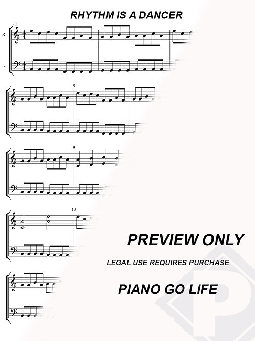 Snap! - Rhythm Is A Dancer Sheet Music