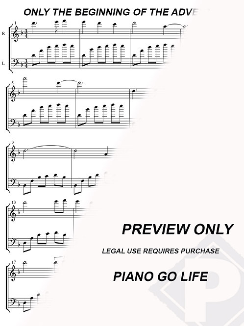 Narnia Only The Beginning Of The Adventure Sheet Music