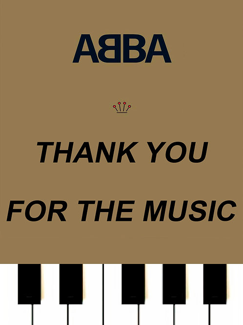 ABBA - Thank You For The Music MIDI