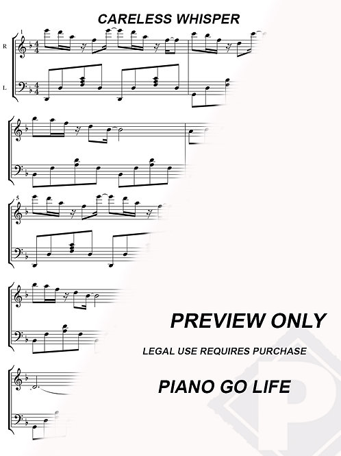 George Michael - Careless Whisper Sheet Music